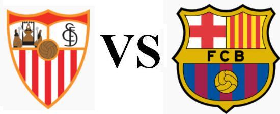 Resultado de imagen para logos del sevilla y el barcelona