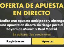 Oferta en directo para el Bayern de Múnich v Real Madrid