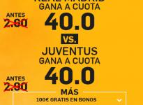 ¿Real Madrid o Juventus? Súper Cuota @40